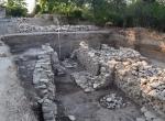 Исследованный в 2017 г. участок северной крепостной стены Тиритаки